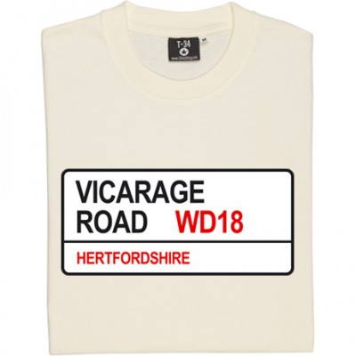 Watford FC: Vicarage Road WD18 Road Sign