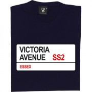 Southend United: Victoria Avenue SS2 Road Sign T-Shirt