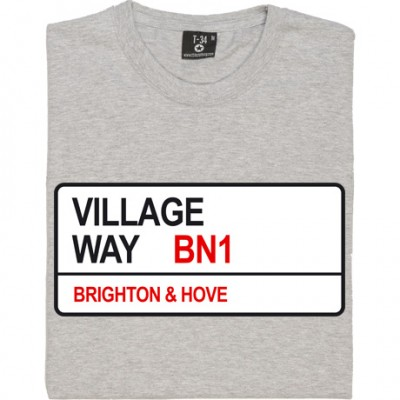 Brighton and Hove Albion: Village Way BN1 Road Sign