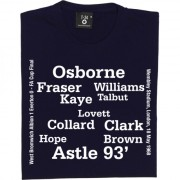 West Bromwich Albion 1968 FA Cup Final Line Up T-Shirt