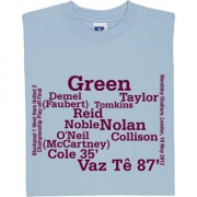 West Ham Championship Play-Off Final 2012 Line-Up T-Shirt