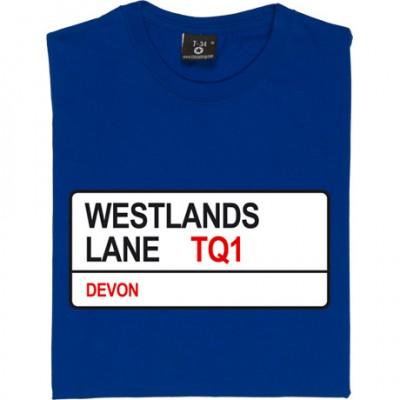 Torquay United: Westlands Lane TQ1 Road Sign