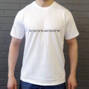 Tottenham Hotspur: White Hart Lane Coordinates T-Shirt