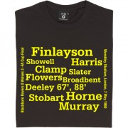 Wolverhampton Wanderers 1960 FA Cup Final Line Up T-Shirt