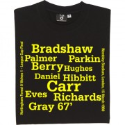 Wolverhampton Wanderers 1980 League Cup Final Line Up T-Shirt