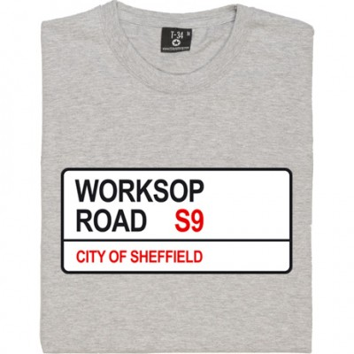 Rotherham United: Worksop Road S9 Road Sign