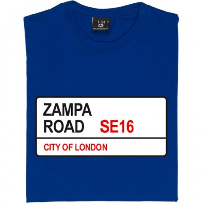 Millwall FC: Zampa Road SE16 Road Sign