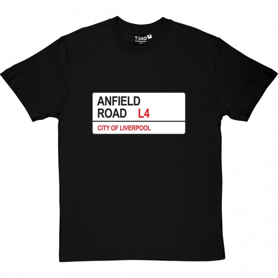 Liverpool: Anfield Road L4 Road Sign T-Shirt