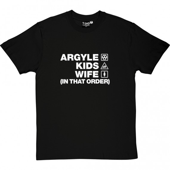 Argyle Kids Wife (In That Order) T-Shirt