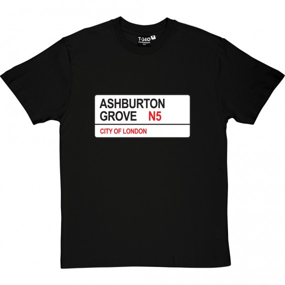 Arsenal: Ashburton Grove N5 Road Sign T-Shirt