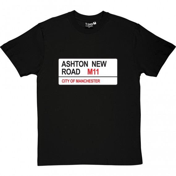 Manchester City: Ashton New Road M11 Road Sign T-Shirt