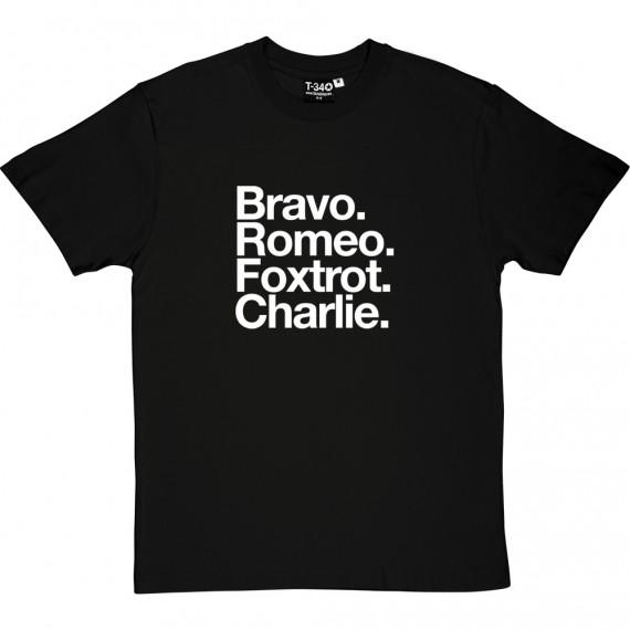 Blackburn Rovers FC: Bravo Romeo Foxtrot Charlie T-Shirt