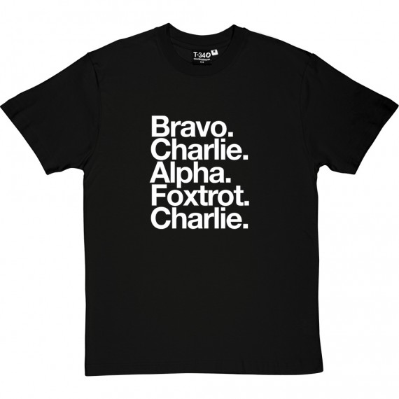 Bradford City AFC: Bravo Charlie Alpha Foxtrot Charlie T-Shirt