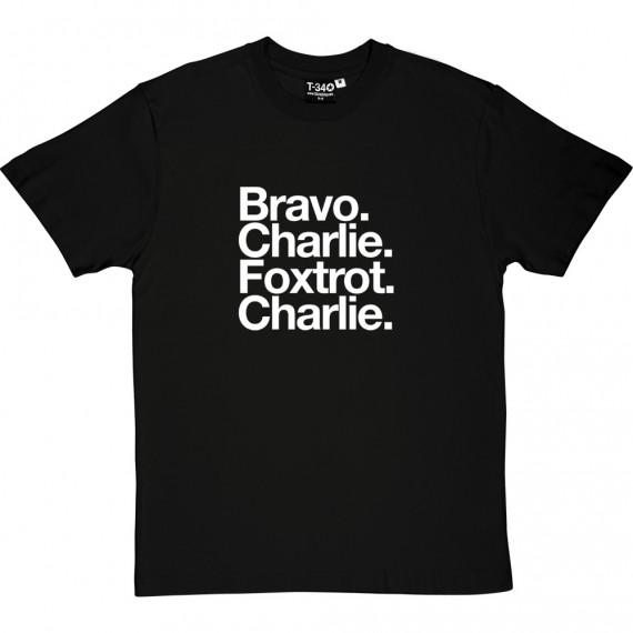 Bristol City FC: Bravo Charlie Foxtrot Charlie T-Shirt