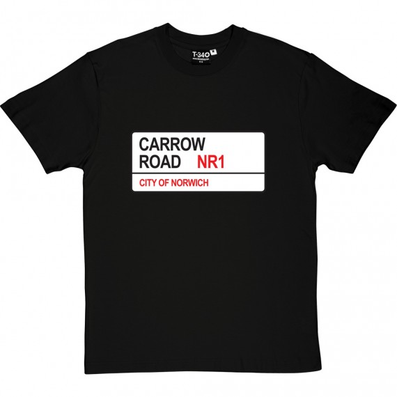Norwich City: Carrow Road NR1 Road Sign T-Shirt
