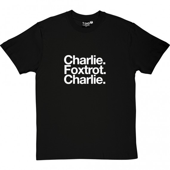 Chesterfield Football club: Charlie Foxtrot Charlie T-Shirt