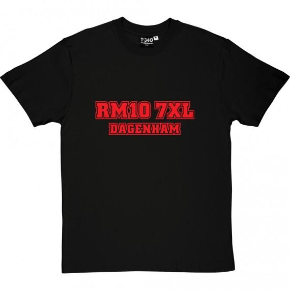Dagenham and Redbridge Postcode T-Shirt