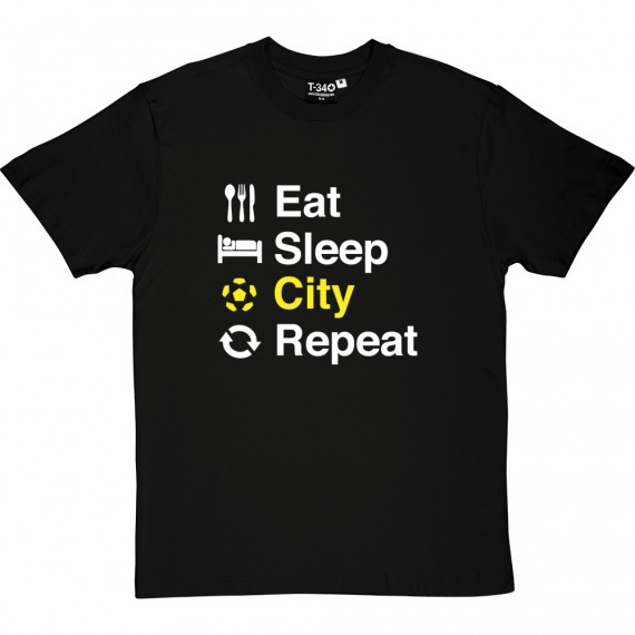 Eat Sleep Norwich Repeat T-Shirt