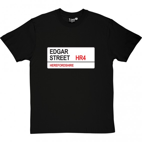 Hereford United: Edgar Street HR4 Road Sign T-Shirt