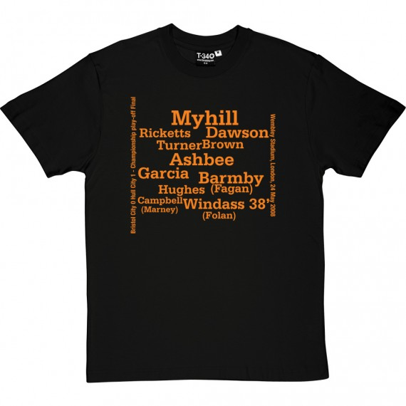 Hull City 2008 Play Off Final Line Up T-Shirt
