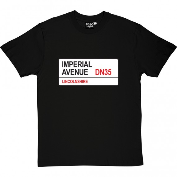 Grimsby Town: Imperial Avenue DN35 Road Sign T-Shirt