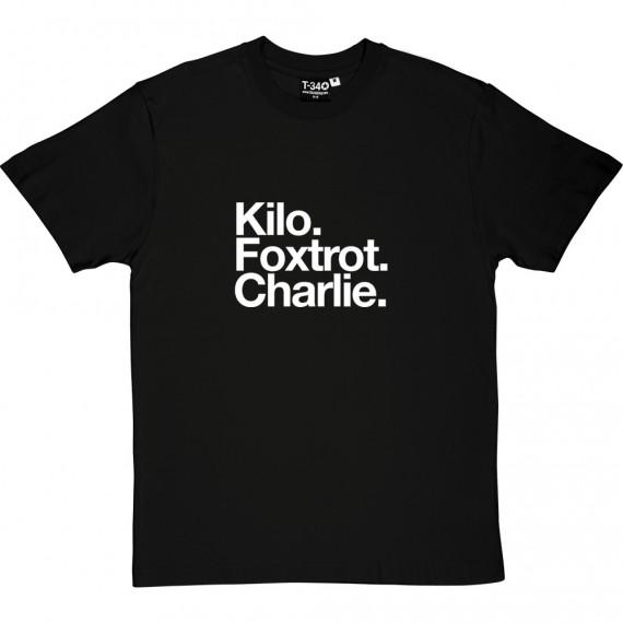 Kilmarnock FC: Kilo Foxtrot Charlie T-Shirt