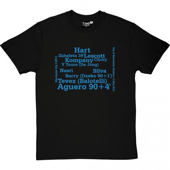 Manchester City vs QPR Line-Up T-Shirt