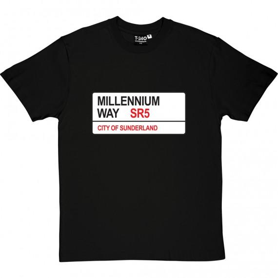 Sunderland AFC: Millennium Way SR5 Road Sign T-Shirt