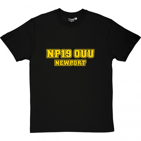 Newport County Postcode T-Shirt