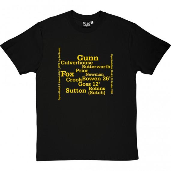 Norwich City 1993 Uefa Cup Line Up T-Shirt