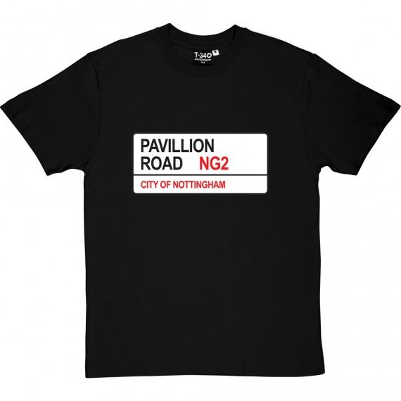 Nottingham Forest: Pavillion Road NG2 Road Sign T-Shirt