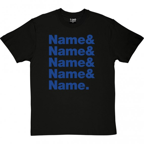 Personalised Line-Up T-Shirt