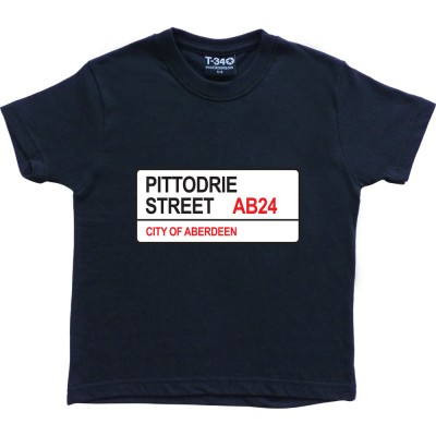 Aberdeen FC: Pittodrie Street AB24 Road Sign