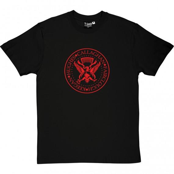 The Ramones Liverpool: Keegan, Hughes, Callaghan, Fairclough T-Shirt
