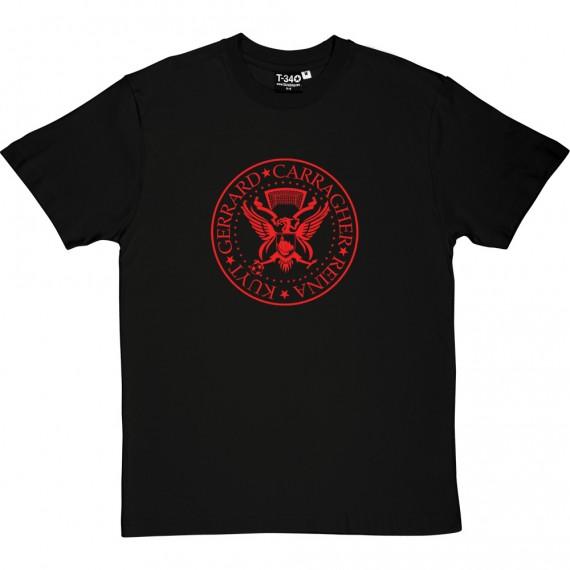 The Ramones Liverpool: Kuyt, Gerrard, Carragher, Reina T-Shirt