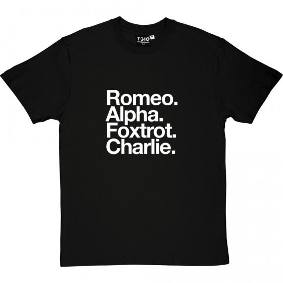 Rochdale FC: Romeo Foxtrot Charlie T-Shirt