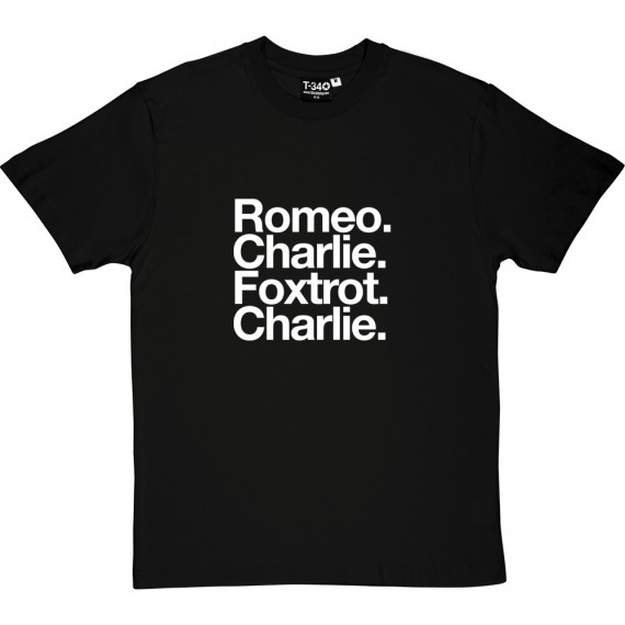 Ross County FC: Romeo Charlie Foxtrot Charlie T-Shirt