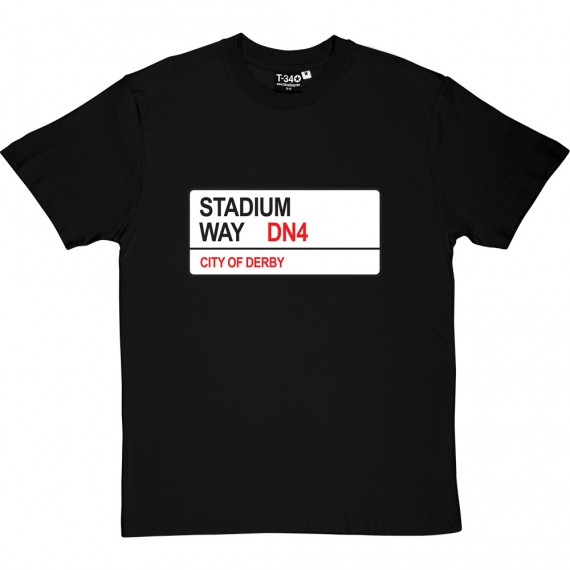 Doncaster Rovers: Stadium Way DN4 Road Sign T-Shirt