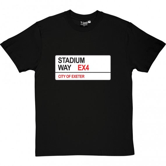 Exeter City: Stadium Way EX4 Road Sign T-Shirt
