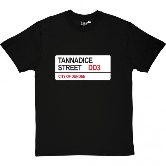 Dundee United: Tannadice Street DD3 Road Sign T-Shirt