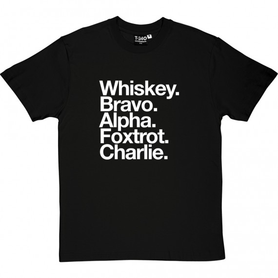West Bromwich Albion FC: Whiskey Bravo Alpha Foxtrot Charlie T-Shirt