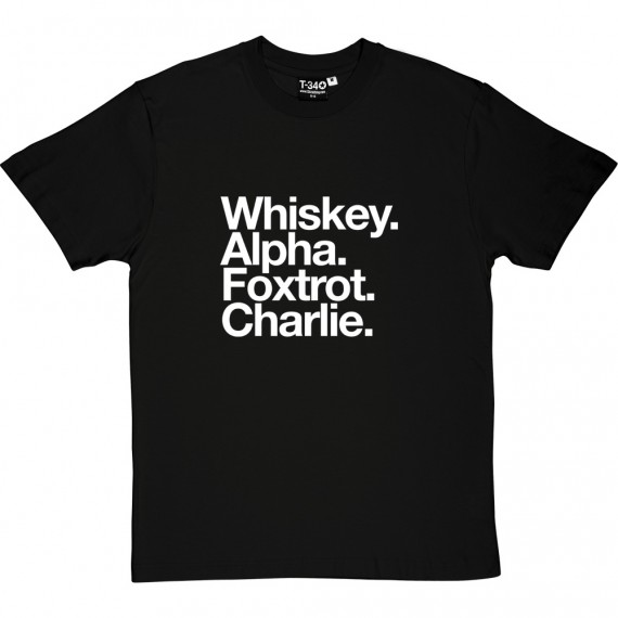Wigan Athletic FC: Whiskey Alpha Foxtrot Charlie T-Shirt